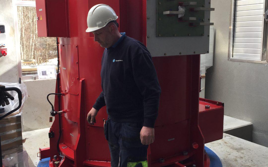 Generator montert på Kvernåi