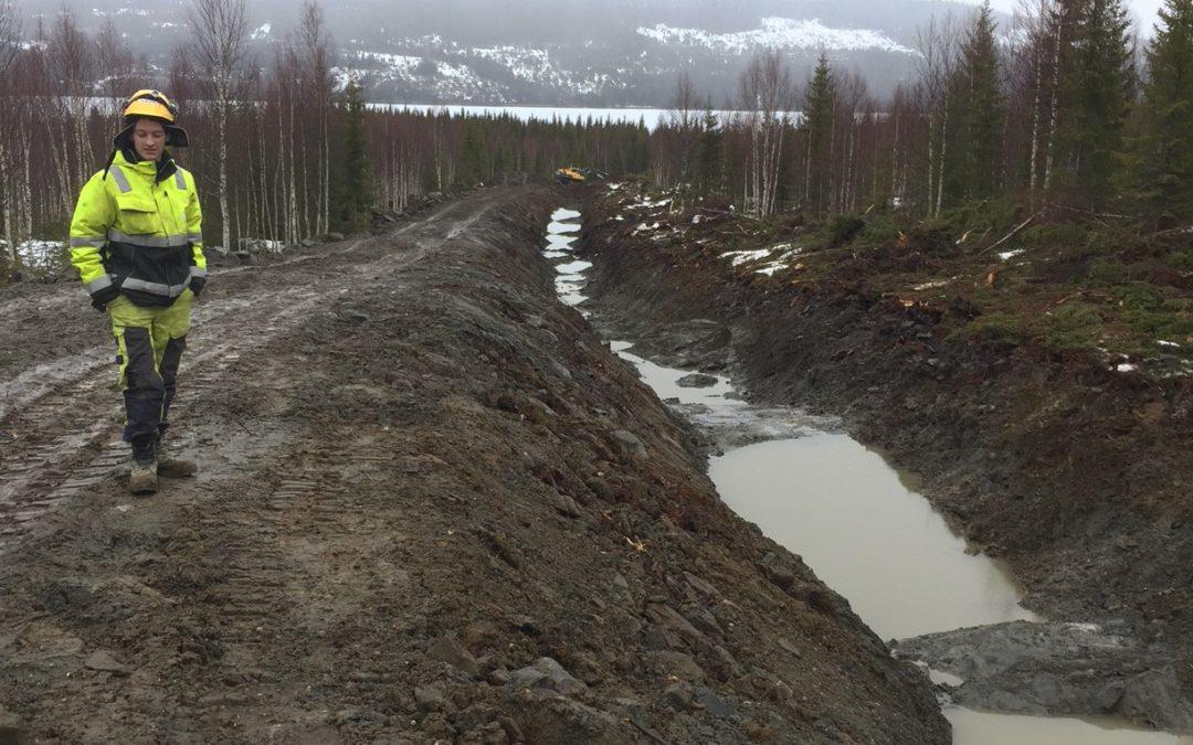 Anleggsvei til kraftstasjonen