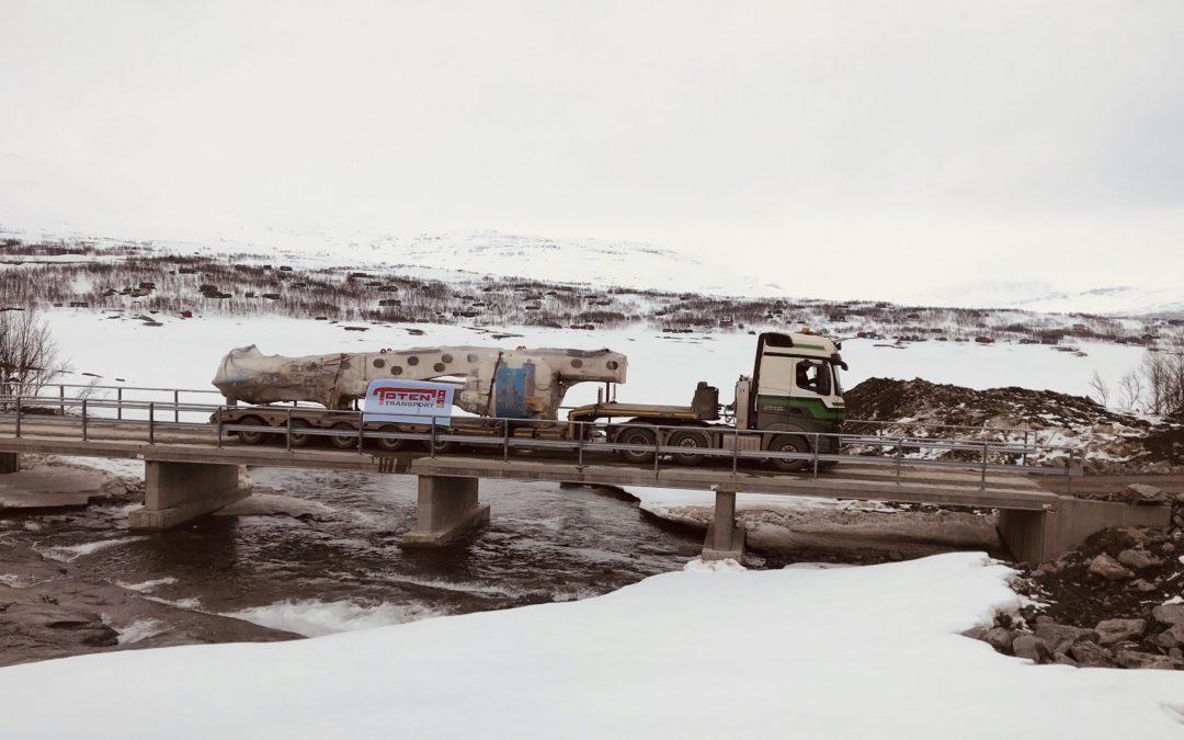 De første delene til Snøhvit har ankommet Salvasskardelva