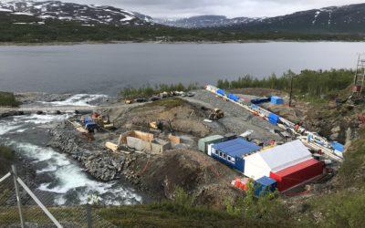Snart klart til boring og turbinmontasje på Salvasskard