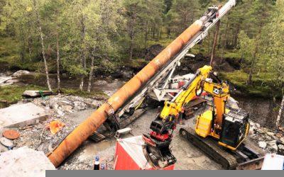 Halvveis ferdig med stålforing på Løkkebø
