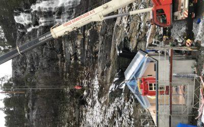 Generator på plass på Løkkebø